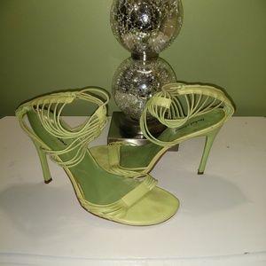 Neon green sandles